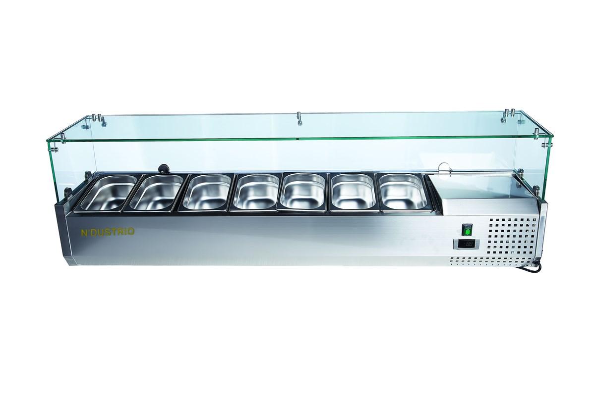 Gtech TTR-200-SC Basic Line Set Üstü Make-Up Ünitesi 9 x GN1/4(Paslanmaz Kapaklı)