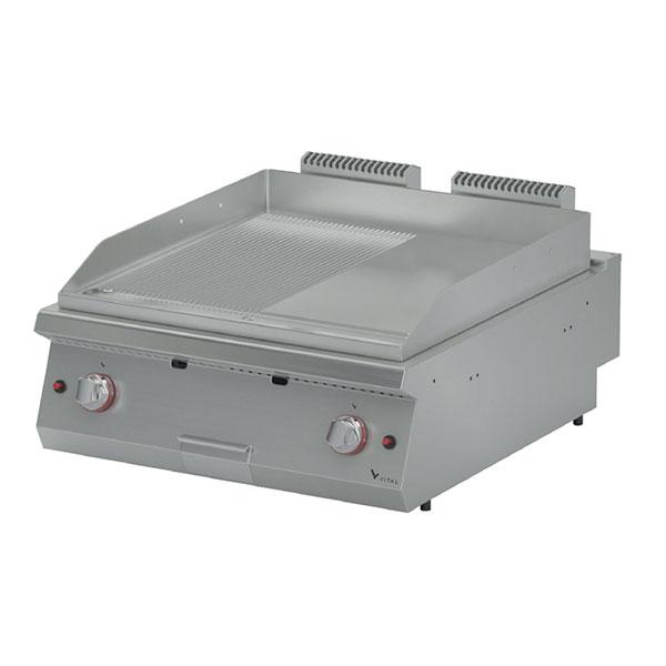Vital GPI9020SR 900 Seri Gazlı Pleyt Izgara Düz+Nervürlü Yüzeyli